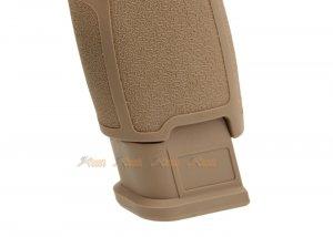 asg alloy slide f17 gbb pistol tan