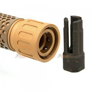 army force 5 inch silencer qd flash hider ccw 14mm de