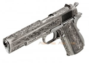 WE M1911A1 Classic Floral Pattern GBB Pistol (Silver)