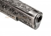 we m1911a1 classic floral pattern gbb pistol silver