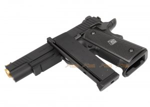 emg sai red 1911 gbb pistol black