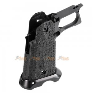 JW3 STI Style Grip with Magwell for Marui / AW Custom / WE-Tech Hi-Capa GBB (Black)