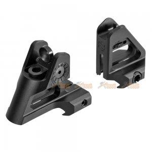 front rear sight set m4 series black