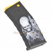 APS 300rd Hi-Capa Magazine for M4 / M16 / UAR Series Airsoft AEG (Reaper Logo, Yellow)