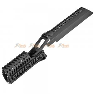 5KU Aluminum Handguard with Top Rail Cover for LCT / GHK AK Series Airsoft AEG / GBBR (Black)