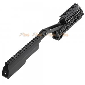 5ku aluminum handguard top rail cover lct ghk ak series airsoft aeg gbbr black