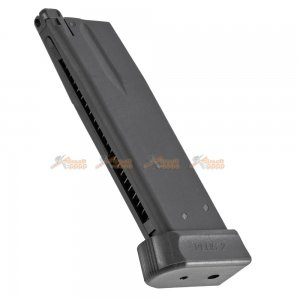 Metal Alloy 25rds Gas Magazine for KJWorks KP15 CZ Shadow2 Series Airsoft GBB (Black)
