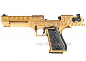cybergun desert eagle .50 ae tiger stripe gbb pistol black gold