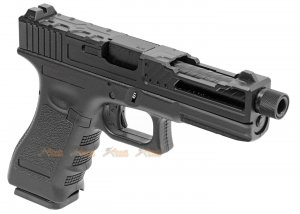 Army Alloy Slide R17-4 G17 GBB Pistol (Black)