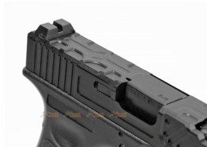 army alloy slide r17-4 g17 gbb pistol black