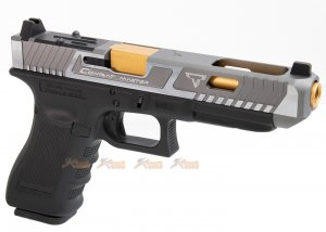 EMG TTI Glock G34 Gen 4 GBB Pistol (G&P Custom) - Two Tone Slide with RMR Cut (VFC Platform)