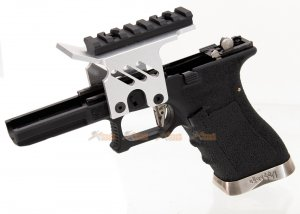 [AGG x WE] Lower Frame with Scope Mount for Marui / WE G18c Series GBB (Silver)