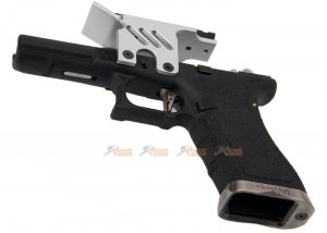 agg we lower frame scope mount marui we g18c series gbb silver