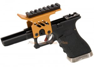 [AGG x WE] Lower Frame with Scope Mount for Marui / WE G18c Series GBB (Gold)