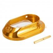 Airsoft Masterpiece Hugh Infinity Magwell for Tokyo Marui Hi-Capa GBB Aluminum Grip (Gold)
