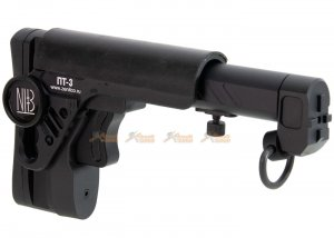 5KU PT-3 AK Telescopic Side Foldable Butt Stock for GHK / LCT / CYMA AK Series (Black)