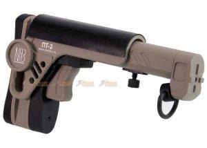 5KU PT-3 AK Telescopic Side Foldable Butt Stock for GHK / LCT / CYMA AK Series (Tan)