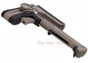 5ku pt3 ak telescopic side foldable butt stock ghk lct cyma ak series tan