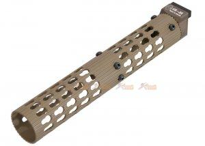 5ku 11.5 inch vs25 keymod handguard lct  ghk ak105 series tan