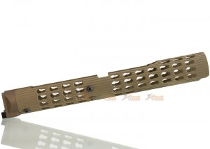 5KU 13.6 Inch VS-24 Keymod Handguard for LCT / GHK AKM, AK74 Series (Tan)