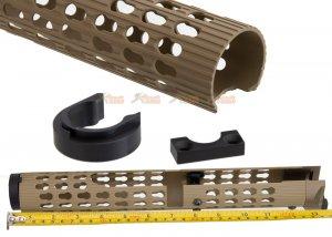 5ku 13.6 inch vs24 keymod handguard lct  ghk akm ak74 series tan