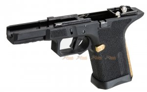 EMG / SAI Polymer Frame for WE-Tech G19 GBB , EMG / SAI Utility Compact GBB (Black, Gold)