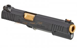 EMG / SAI RED 1911 Aluminium Alloy Slide Set for Marui / EMG / WE 1911 GBB (Gold / Black)