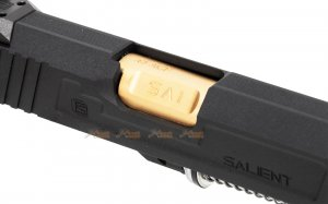 emg sai red 1911 aluminium alloy slide set  marui emg we 1911 gbb gold black
