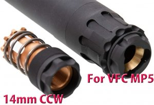 rgw obsidian 9mm mp5 dummy silencer umarex vfc mp5 gbbr 14mm ccw aeg gbbr