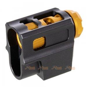 mita t style compensator 14mm ccw flash hider m17 Mp9 m9 1911 m92F g34 hicapa series gbb black