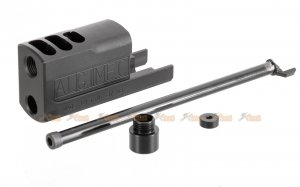 BELL M9 Aluminium SOCOM Compensator Kit for KSC / Bell / WE M9 Series GBB (Black)
