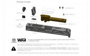 jdg war afterburner rmr slide set umarex vfc g19 gen3 bronze barrel