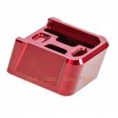 MITA Aluminium Magazine Base for Marui & WE G Series GBB (Red, Thick Type)