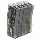 ARES 140rds M16 Mid-Cap Magazine for M4 / M16 AEG (5PCS / BOX) - Transparent