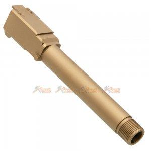 Pro-Arms 14mm CCW Threaded Aluminum Outer Barrel for Marui G17 Gen.4 GBB (Tan)