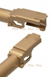 pro arms 14mm ccw threaded aluminum outer barrel for Marui G17 Gen.4  tan