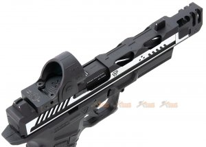high end version emg strike industries ark17 g17 gbb pistol compensator rmr red dot sight black