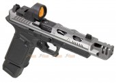 [High-end Version] EMG Strike Industries ARK-17 G17 GBB Pistol w/ Compensator & RMR Red Dot Sight (Silver)