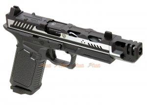 EMG Strike Industries ARK-17 G17 GBB Pistol w/ Compensator (2 Tone Color, Black & Silver)