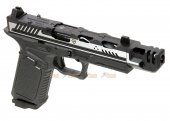 EMG Strike Industries ARK-17 G17 GBB Pistol w/ Compensator (2 Tone Color, Black & Silver)