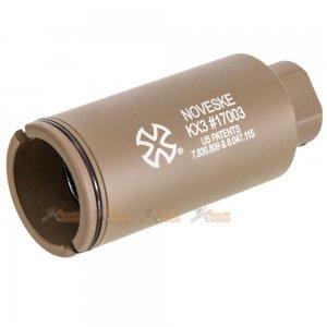 EMG NOVESKE KX3 ADJUSTABLE SOUND AMPLIFIER FLASHHIDER (COLOR: FLAT DARK EARTH TAN / 14MM NEGATIVE)