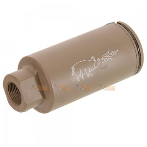 emg noveske kx3 adjustable sound amplifier  flashhider (color: flat dark earth tan/ 14mm negative)