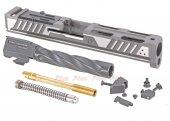 EMG Srike IIndustries ARK Titanium Slide Type B (Silver)  for Marui G17 Gen.3 Airsoft GBB
