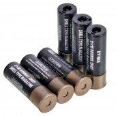CYMA M870 Shotgun Shell for Marui System (6pcs) (Black)