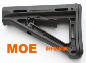 MAGPUL PTS MOE Carbine Stock with Butt Pad (Black)