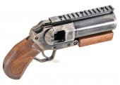 showguns mini hand cannon airsoft grenade launcher real wood grip