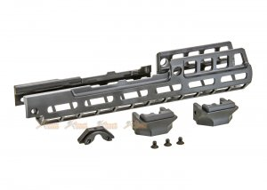rgw rsr style ak m-lok 10 inch handguard rail for ghk lct ak series black