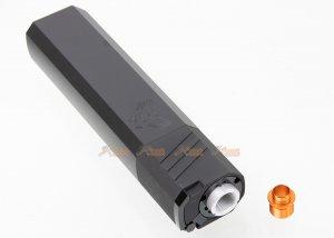 180mm silener silencer adapter 14mm ccw 11mm cw aeg gbbr black