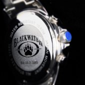 BLACKWATER PMC Military Style Chronograph Watch (Black)