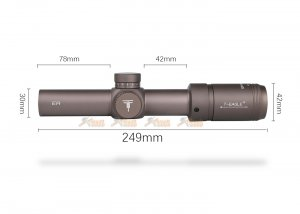 t-eagle er series 1.2-6x24ir tactical optic sight rifle scope with universal collimator horizontal connecting mount